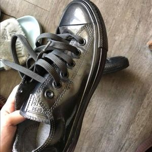 Brand new Converse black leather rare find